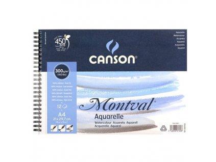 skicák na akvarel Montval A4