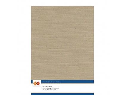 Barevný papír - texturovaná čtvrtka hnědá cappuccino