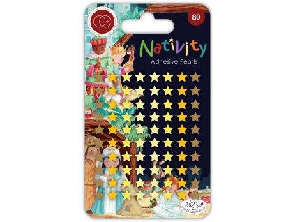 craft consortium nativity adhesive pearl stars cca