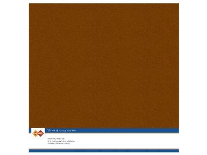 Barevný papír texturovaná čtvrtka hnědá 30x30cm