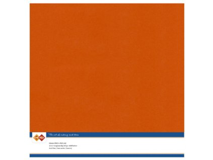 Barevný papír texturovaná čtvrtka podzimní oranžová 30x30cm