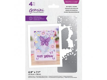 gemini butterfly wishes create a card dies gem md