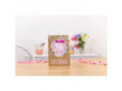 gemini love birds create a card dies gem md cad lb