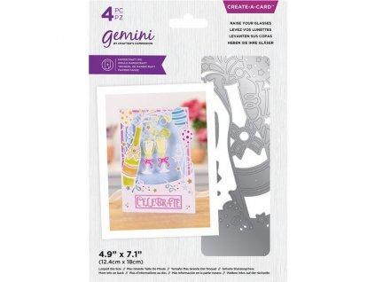gemini raise your glasses create a card dies gem m