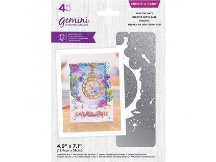 gemini save the date create a card dies gem md cad