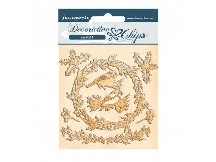 stamperia romantic christmas garland decorative ch