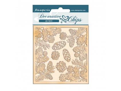 stamperia romantic christmas pinecones decorative