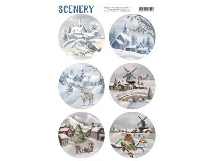 Papírové Výřezy Sněhová vesnice