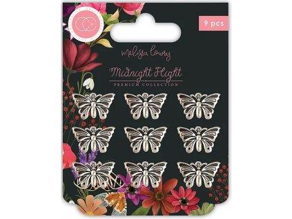 craft consortium midnight flight metal charms moth