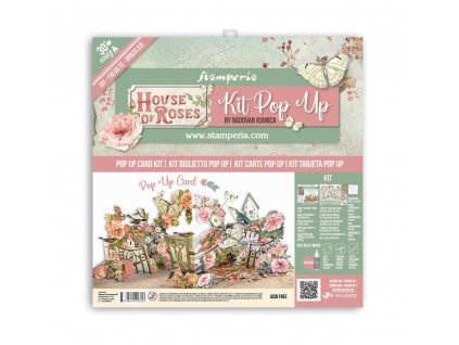 stamperia pop up kit 12x12 inch house of roses sbp