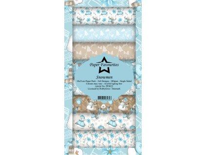 paper favourites snowmen slim paper pack pfs023