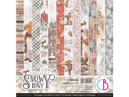 Sada oboustranných papírů Memories of a Snowy Day 15x15cm