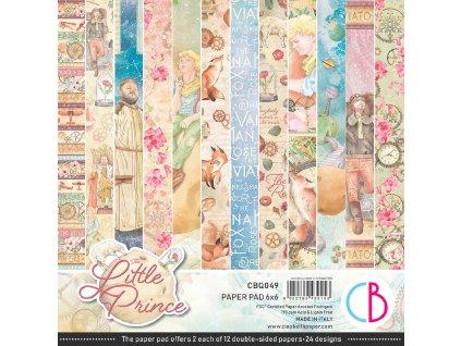 Sada oboustranných papírů The Little Prince 15x15cm