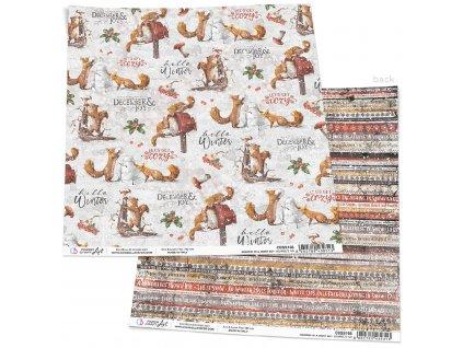 Oboustranný papír Squirrels' Fun 30x30cm