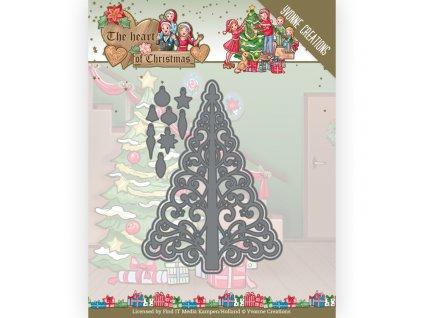 Šablona kovová vyřezávací Vánoční stromeček