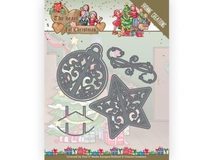 Šablona kovová vyřezávací Vánoční ozdobičky 2