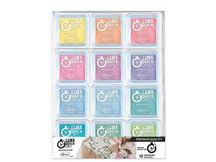 aladine izink quick dry pigment set pastel 12pcs 1