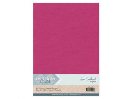 Barevný papír - texturovaná čtvrtka purpurová