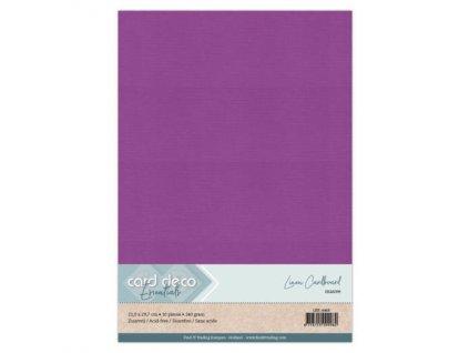 Barevný papír - texturovaná čtvrtka nafialovělý