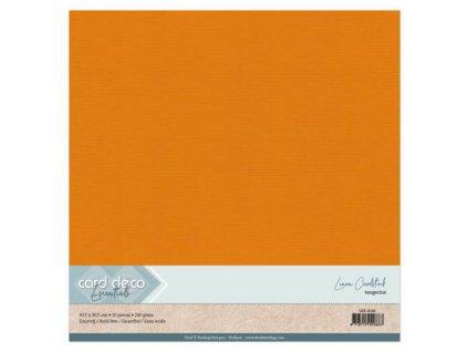 Barevný papír texturovaná čtvrtka mandarinková 30x30cm