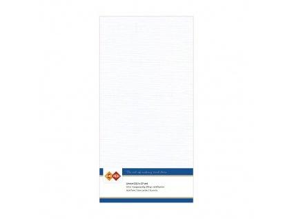 Barevný papír - texturovaná čtvrtka bílá 13,5x27cm