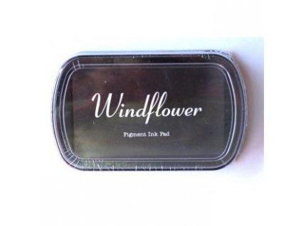 Razítkovací polštářek Windflower Tmavě hnědý