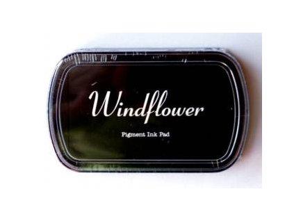 Razítkovací polštářek Windflower Černý