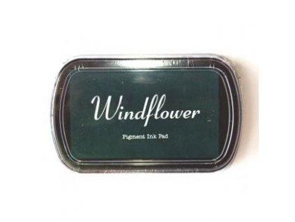 Razítkovací polštářek Windflower Tmavě zelený