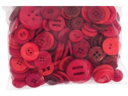 Knoflíky mix Červené