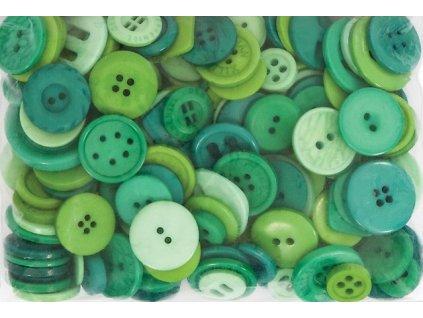 Knoflíky mix Zelené