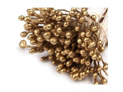 Pestíky do květin - zlatá