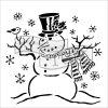 Šablona flexibilní plastová Mr.Snowman