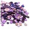 knoflíky fialový mix barev a rozměrů 125g