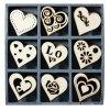 Mix dřevěných dekorací srdce