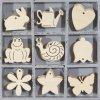 Mix dřevěných dekorací zvířata