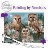 Malování podle čísel na plátno Romantické sovy