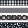 Samolepicí pásky černé puntíky, čtverečky a květiny
