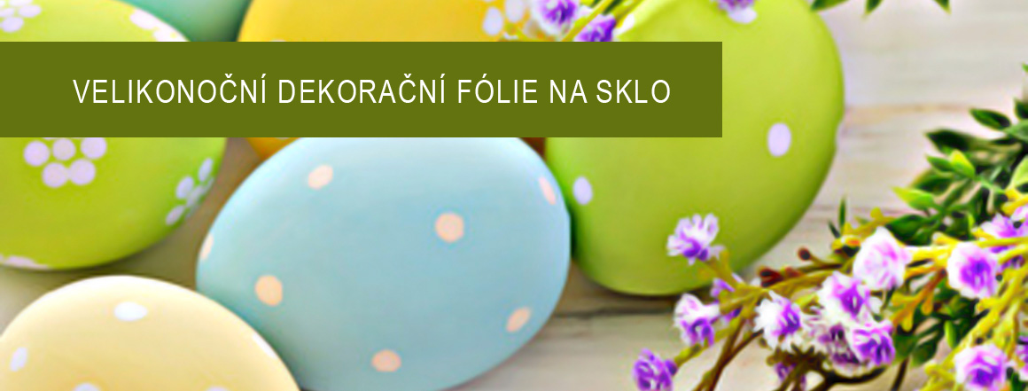 Velikonoční dekorační fólie na sklo
