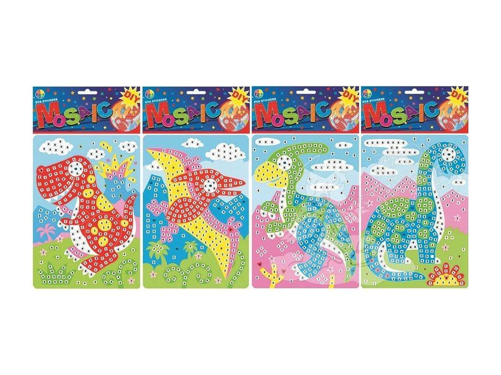 Mozaikový hrací set dinosauři 23x16cm 1679