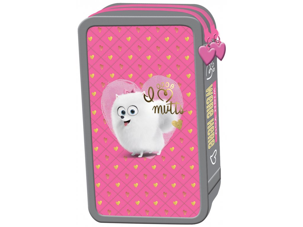 Penál Tajný život mazlíčků - pro holky 2 zipy vybavený - Papírnictví ... 60750dc450