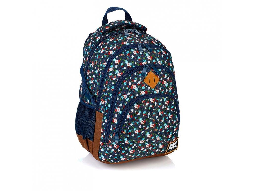 Studentský batoh Head HD-111 kytičky - Papírnictví dekorace ac5cb4d6f6