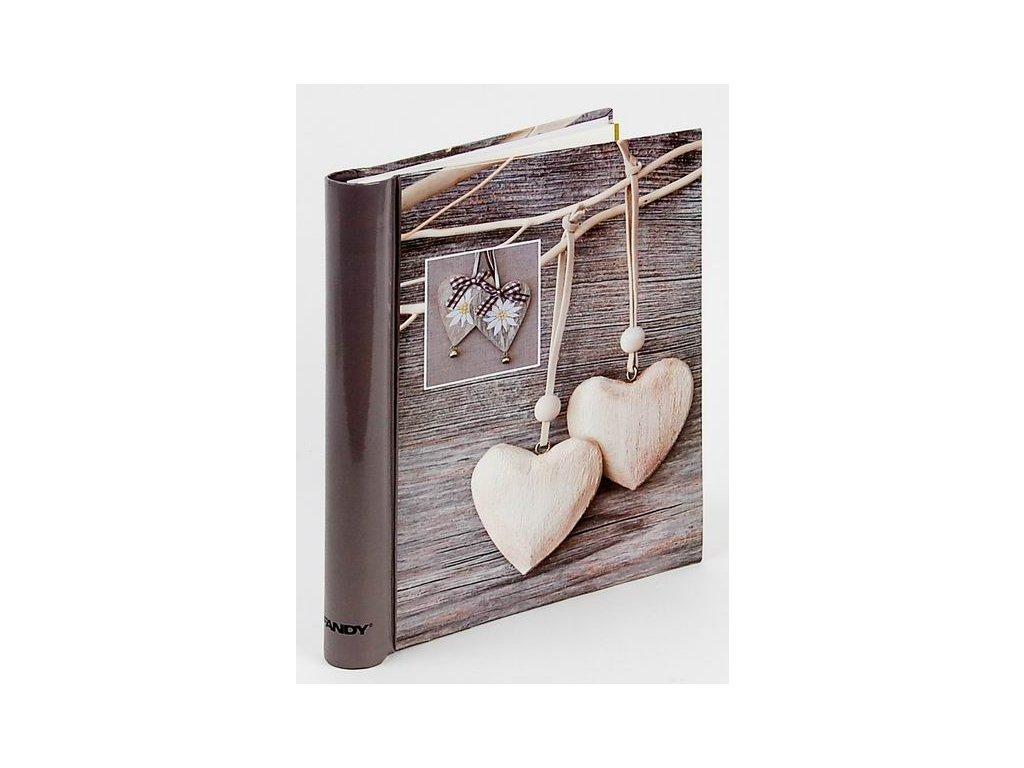 Fotoalbum samolepící DRS-30 Trim 2 bílé srdce