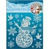 Samolepka sněhulák se sněhovým efektem 10058, 24x18cm