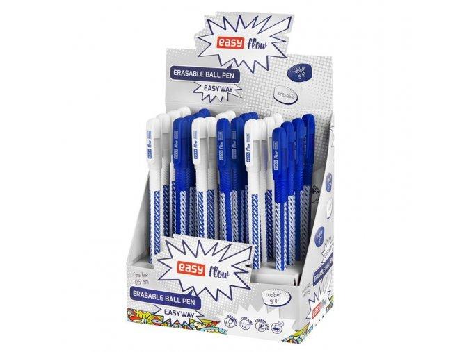 Přepisovatelný jednorázový roller  - náplň se speciálním inkoustem - barva náplně modrá - napsaný text lze vymazat plastovým zakončením rolleru a znovu přepsat na tomtéž místě - pogumovaný korpus