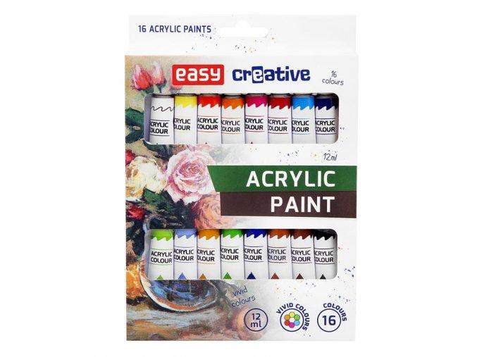 Akrylové barvy 16 ks EASY