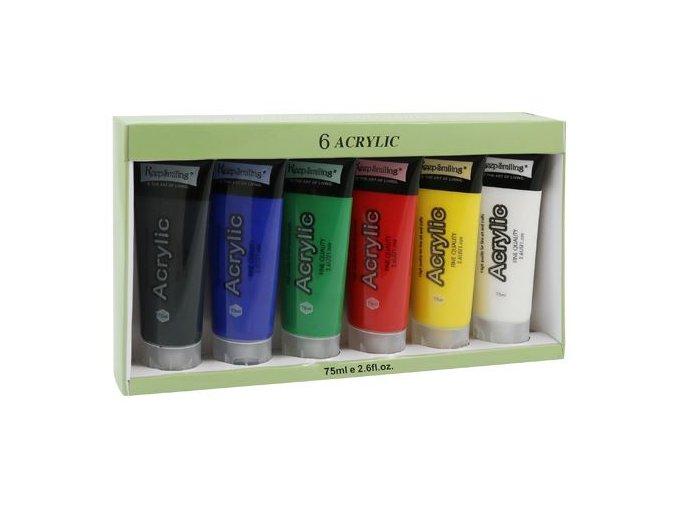 Barvy akrylové 6 x 75 ml