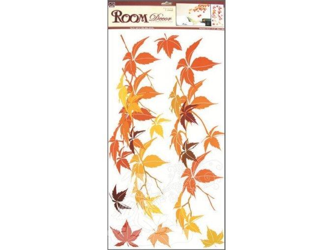 Samolepky na zeď listí podzimní 533, 69x32 cm - 2 POSLEDNÍ KUSY -