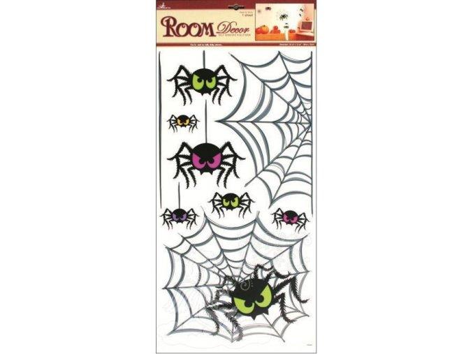 Samolepky na zeď pavouci 599, 69x32cm