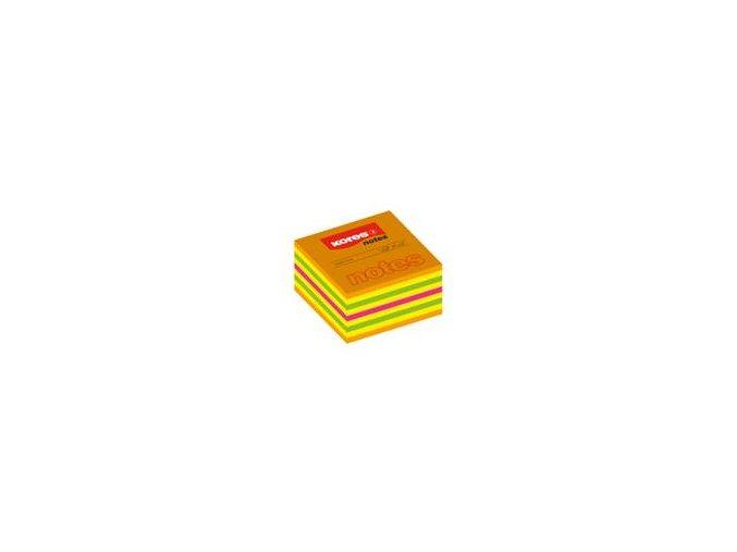 Samolepící bločky CUBO 75x75 mm 450 listů KORES - neonové barvy