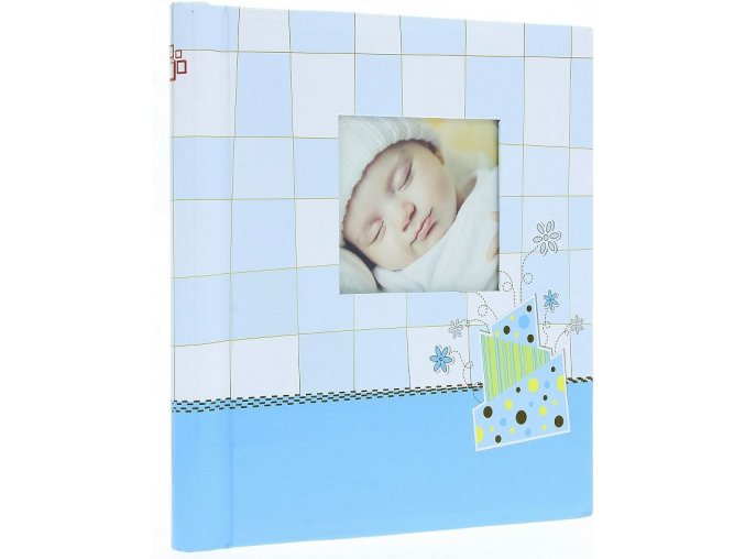 Fotoalbum samolepící DRS-30 Baby checker modré